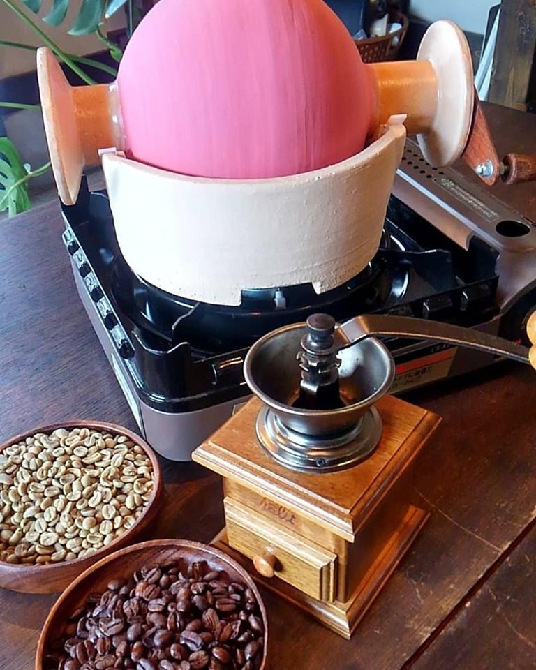 陶器製遠赤外線コーヒー焙煎器